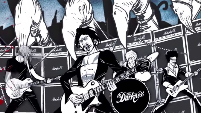 "THE DARKNESS – UN 4eme ALBUM ET UNE NOUVELLE VIDEO ""BARBARIAN""."