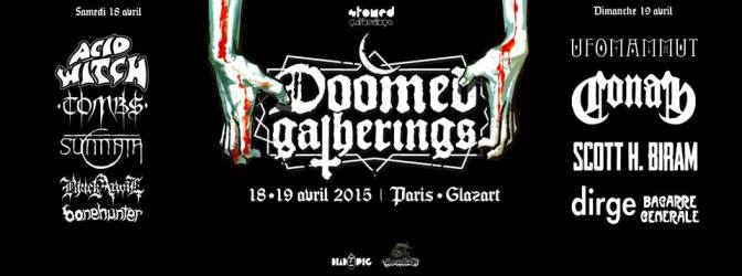 DOOMED GATHERINGS @ LE GLAZ'ART – 18/04/15