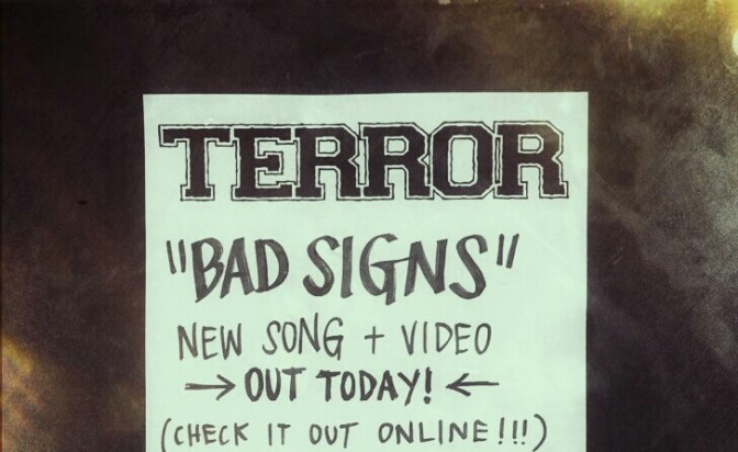 "TERROR : ""BAD SIGNS"" – LE CLIP!"