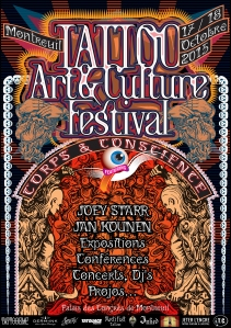 Affiche Tattoo Art et Culture Festival Montreuil