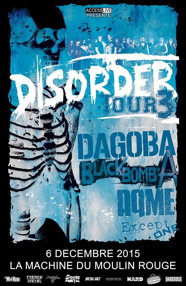 DISORDER TOUR @ LA MACHINE DU MOULIN ROUGE – 6/12/15