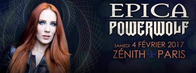 EPICA + POWERWOLF + GUESTS @ LE ZENITH DE PARIS -04/02/2017