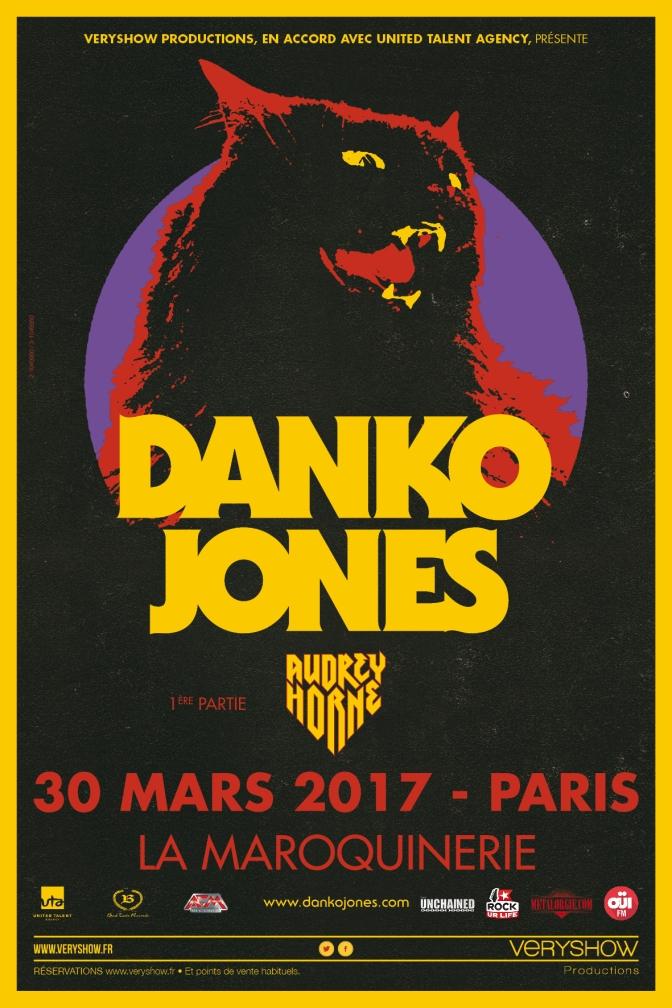 DANKO JONES DE RETOUR A PARIS