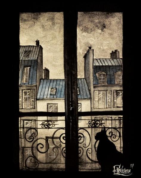 intimacy of a Parisian cat hqa