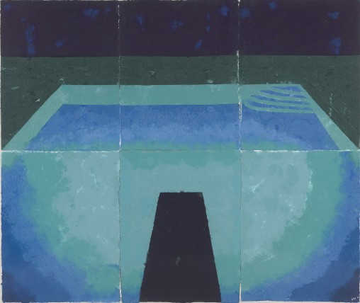11David Hockney Schwimmbad Mittermacht (Paper Pool 11) 1978 Papier coloré et maché © David Hockney Tyler Graphics Ltd Photo Richard Schmidt - Copie