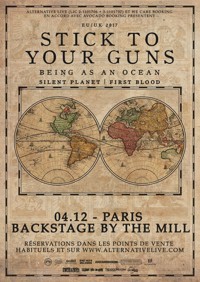 GAGNEZ VOS PLACES POUR STICK TO YOUR GUNS EN CONCERT A PARIS