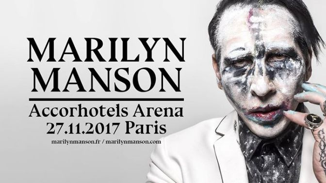 Manrilyn Manson @ AccordHotel Arena 27/11/2017
