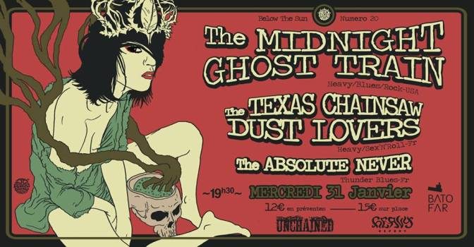 GAGNEZ VOS PLACES POUR  THE MIDNIGHT GHOST TRAIN A PARIS