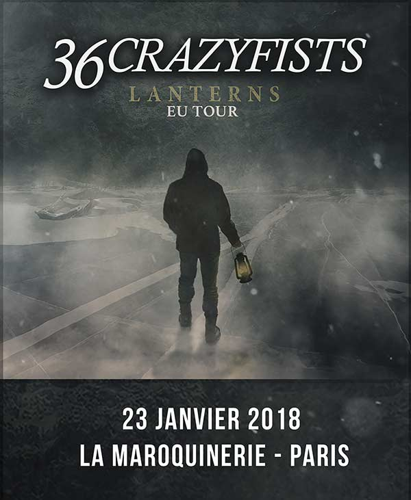 36 Crazyfists + All Hail the Yeti @ La Maroquinerie – 23 Jan 2018