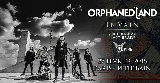 Orphaned Land & guests @ Petit Bain – 27/02/2018