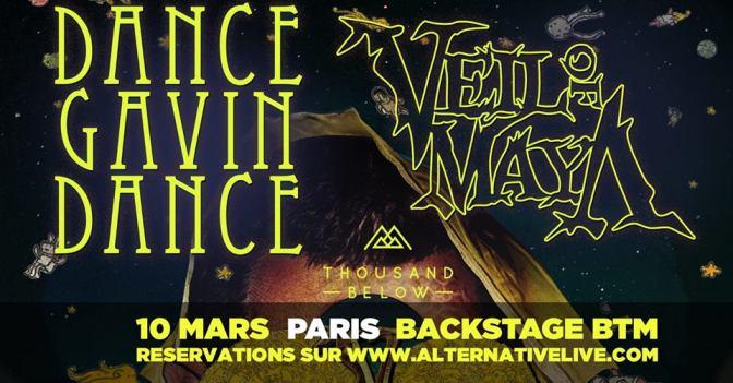 GAGNE TA PLACE POUR DANCE GAVIN DANCE + VEIL OF MAYA A PARIS !