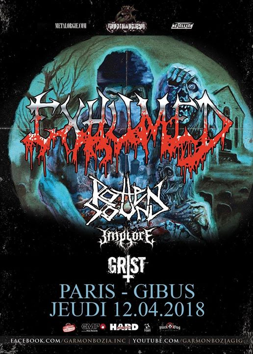 Exhumed & guests @ Gibus – 12 avril 2018