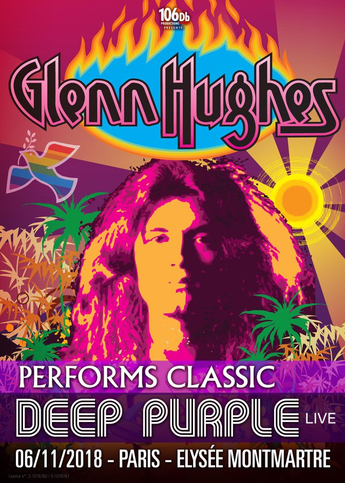 GLENN HUGHES JOUE DEEP PURPLE A PARIS