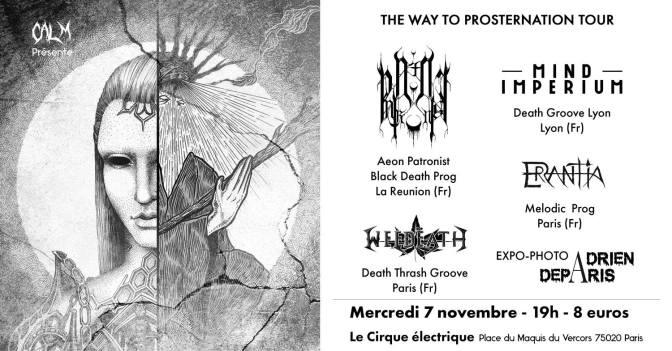 Gagne ta place pour AeonPatronist + Mind Imperium + Errantia + Weedeath à Paris !